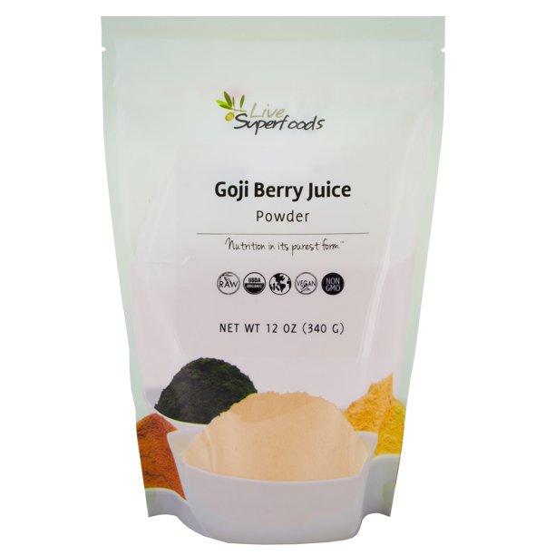 Live Superfoods Goji Berry Powder Organic 12 Oz Walmart Com