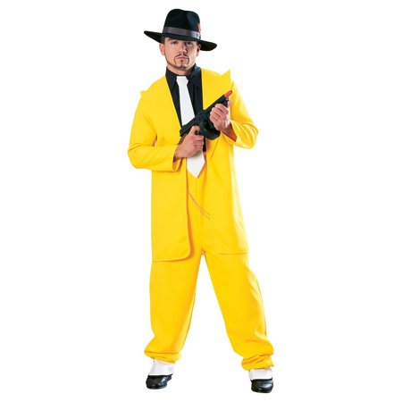 Yellow Zoot Suit Adult Costume - X-Large