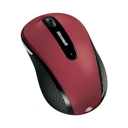 Microsoft D5D-00038 Microsoft Wireless Mobile Mouse 4000 - BlueTrack - Wireless - Radio Frequency - Red - USB 2.0 - 1000 dpi - Computer - Tilt Wheel