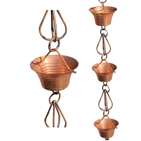 Monarch Pure Copper Mizoko Rain Chain, 8-1/2 Feet Length