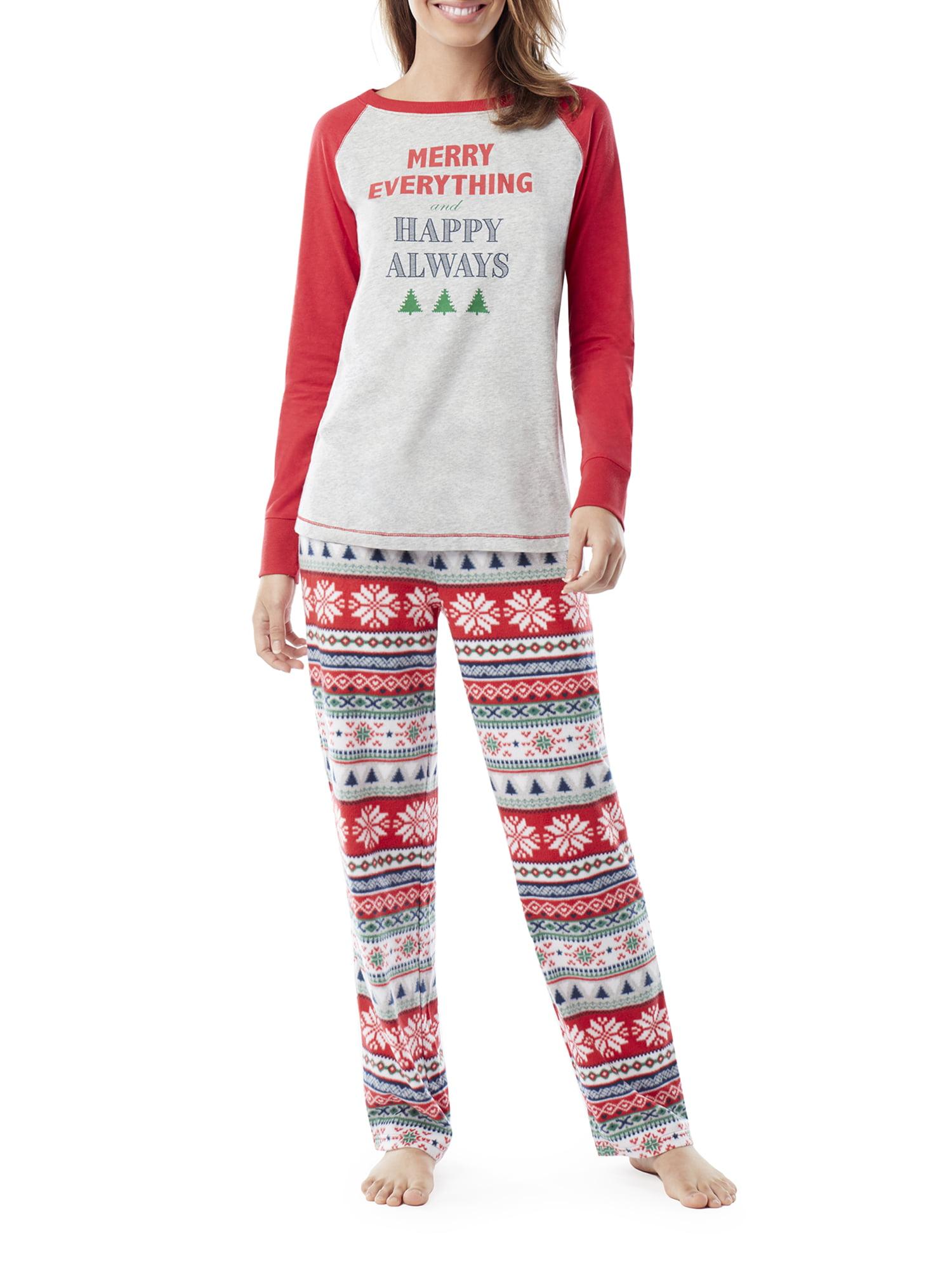 Family PJs Family Sleep Merry Everything Women s and Women s Plus Fairsile  Pajamas (2-Piece b8f2fa853