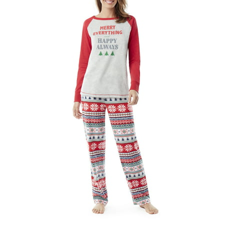 Family PJs Family Sleep Merry Everything Women's and Women's Plus Fairsile Pajamas (2-Piece - Costume Pjs