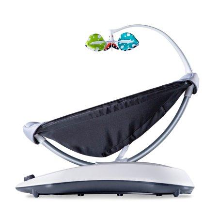 4moms® rockaRoo® infant seat | Compact Baby Swing | Grey Classic