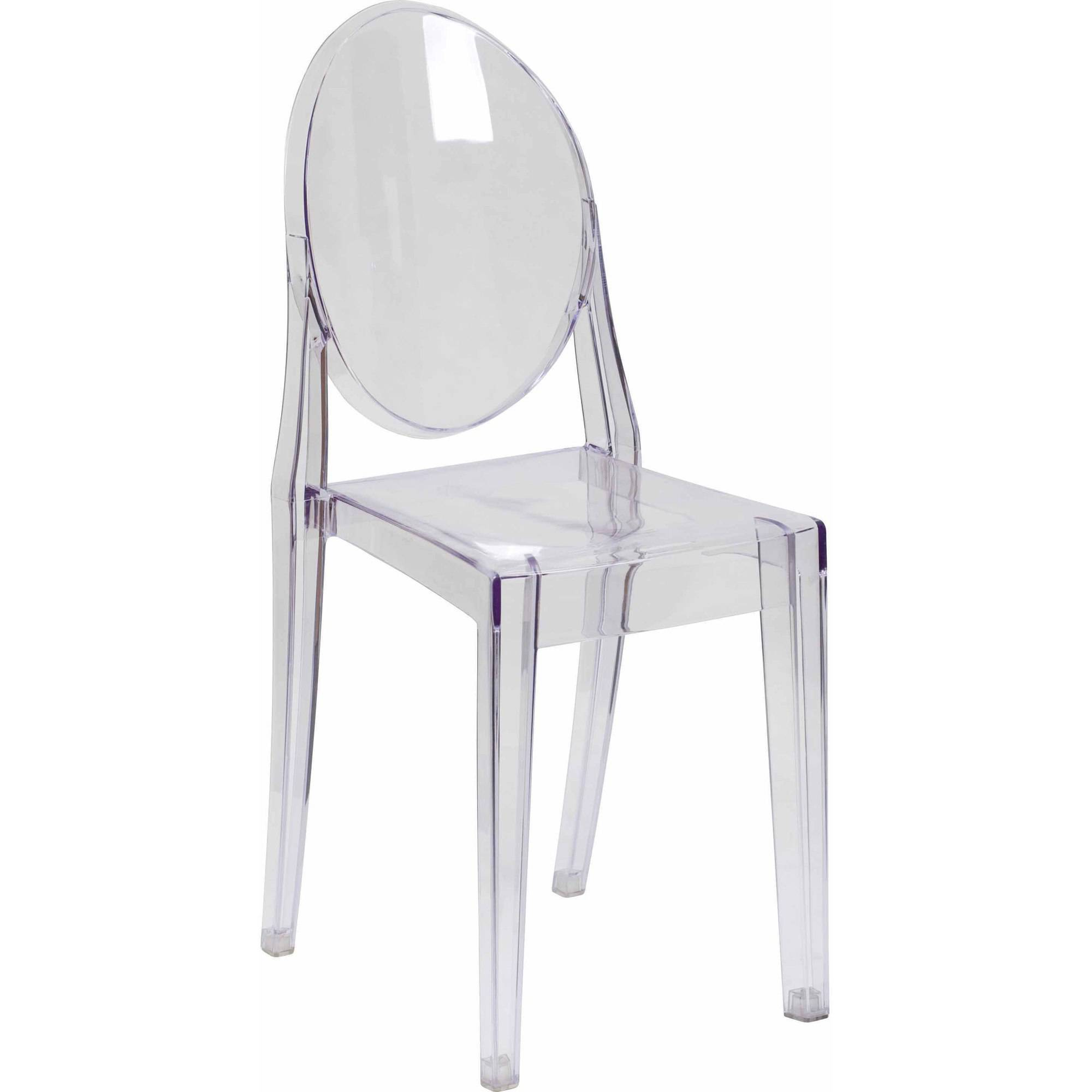 Flash Furniture Ghost Side Chair Transparent Crystal Walmart