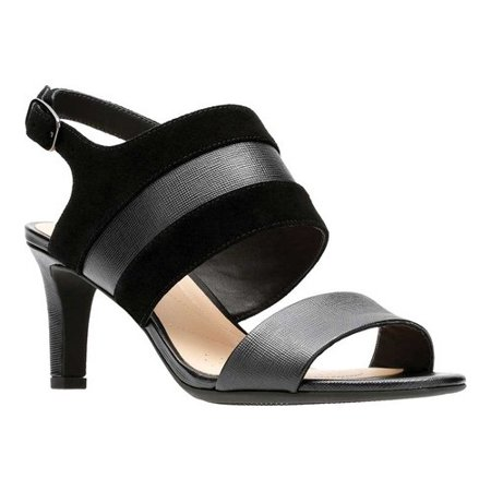 Women's Clarks Laureti Joy Ankle Strap Ankle Strap Leather Wedges