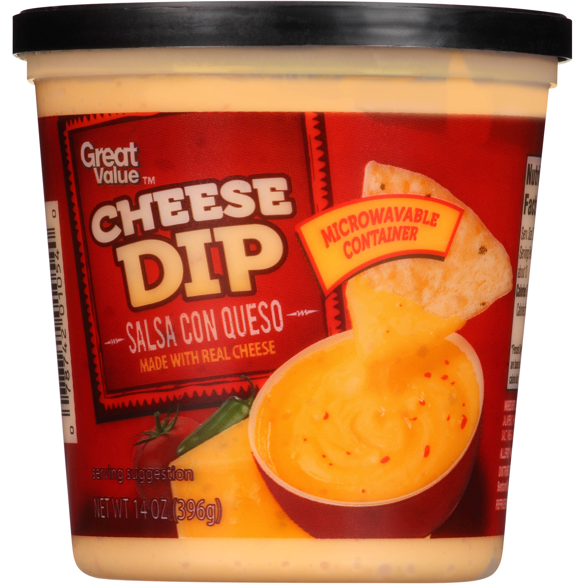 Great Value Salsa Con Queso Cheese Dip, 14 oz