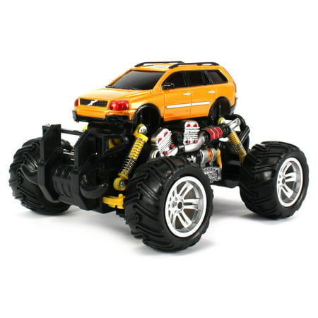 (Volvo XC Station Wagon RC Off-Road Monster Truck 1:18 Scale 4 Wheel Drive RTR, Working Hinged Spring Suspension, Perform Various Drifts (Colors May Vary))