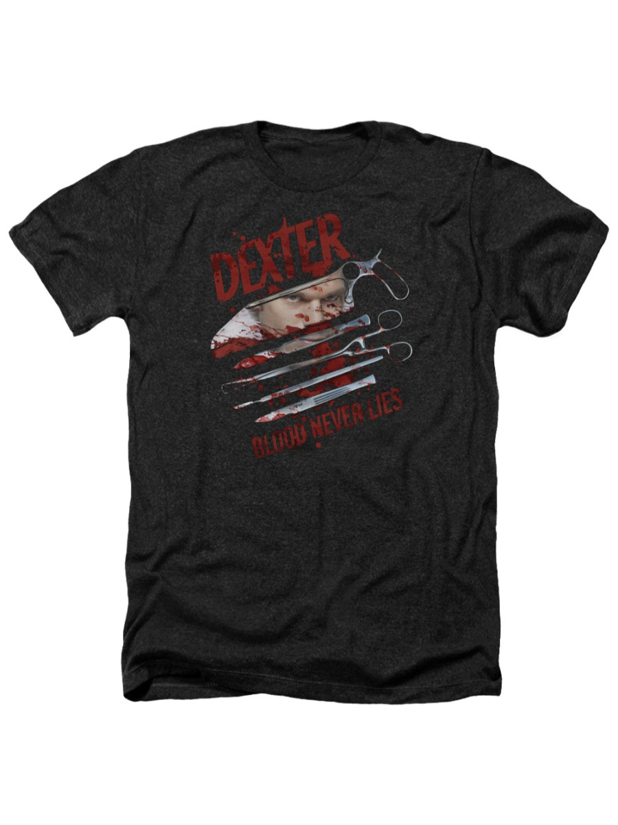 Dexter Blood Never Lies Adult Tank Top T-shirt