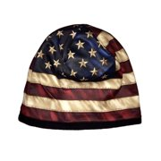 Erazor Bits American Flag Patriotic Beanie Cap, Black