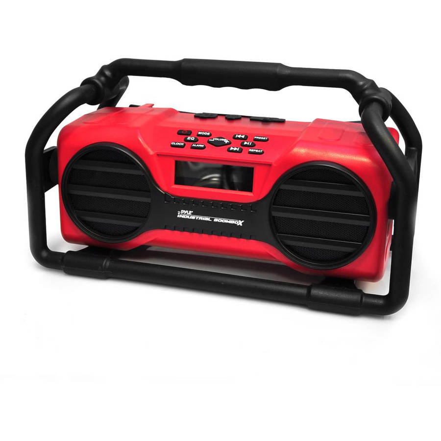 Pyle-Home Industrial Boombox Rugged Bluetooth Speaker, Heavy-Duty and Splash-Proof Stereo Radio, Portable... by Pyle