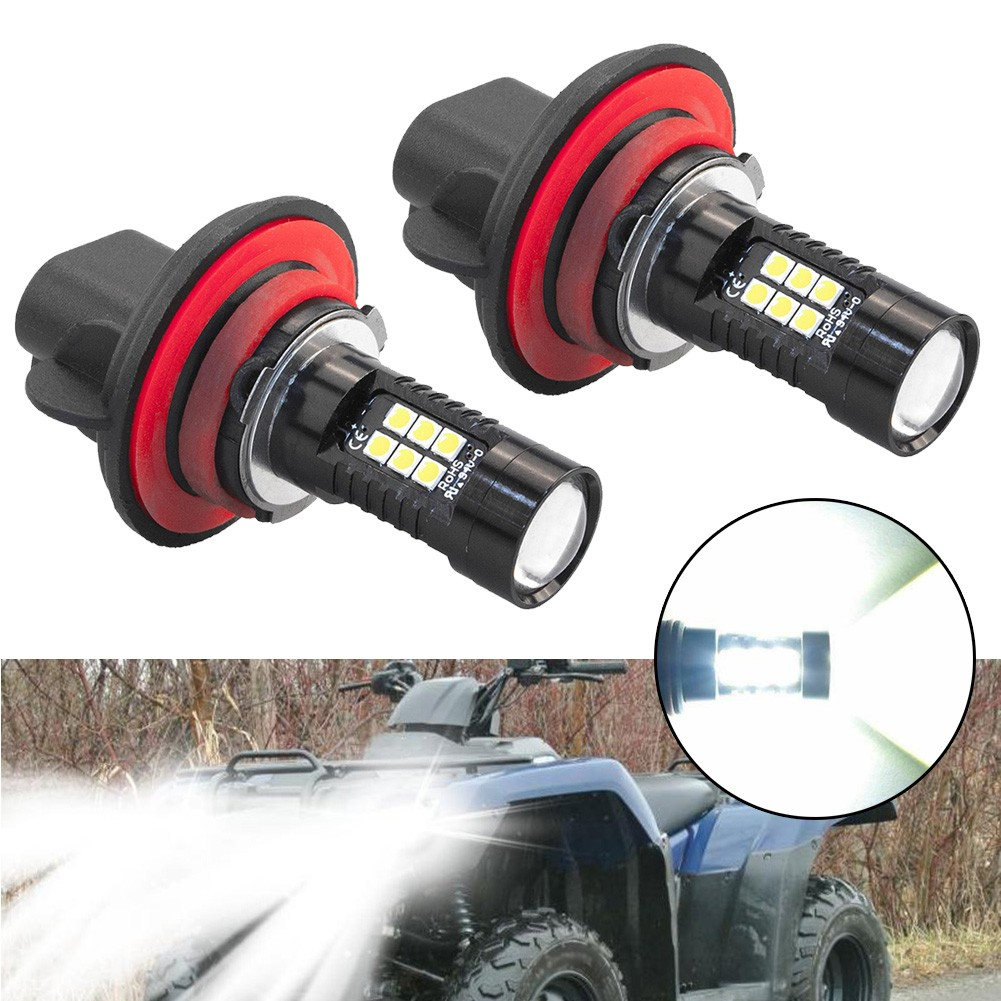 2pcs 9008 H13 LED HeadLight Bulbs For Honda Rancher 350 400 White 6000K