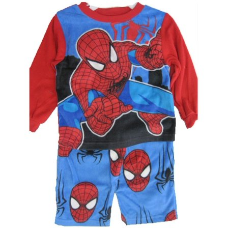 Little Boys Red Black Spiderman Superhero 2 Pc Pajama Set 2T-4T