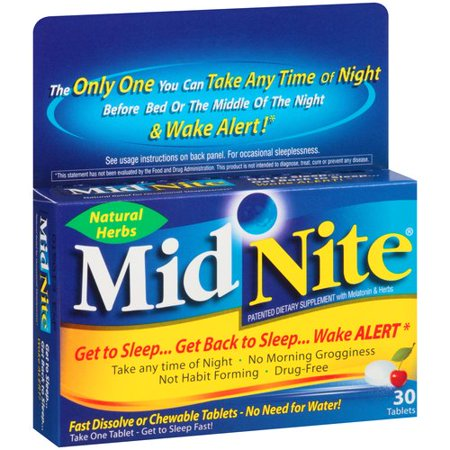 MidNite Sleep Aid Herbal Supplement Tablets, 30 count