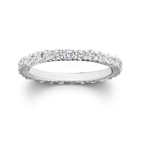 - 1ct Diamond Eternity Wedding Ring in 14k White, Yellow or Rose Gold