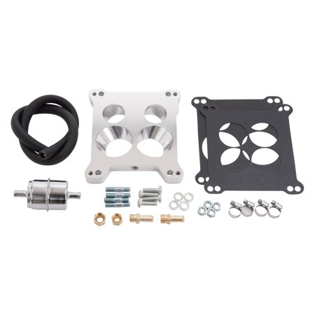 Edelbrock 2697 QuadraJet Adapter and Fuel Line Kit (Edelbrock Fuel Rails)