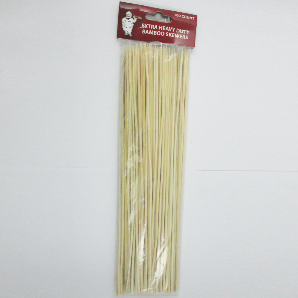 100 Bamboo Skewers 12 Inch Wood Wooden Sticks BBQ Shish Kabob Fondue Party Grill by PRIDE PRODUCTS