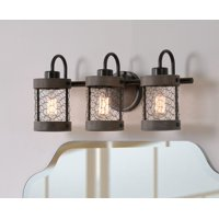 Cozy Wood and Oil Rubbed Bronze 3 Light Vanity
