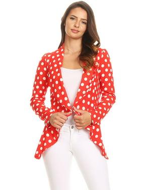 Women's Polka Dot Blazer Style Jacket