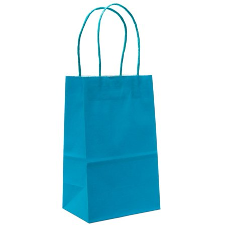 Small Turquoise Kraft Gift Bags - Small Gift Bags In Bulk