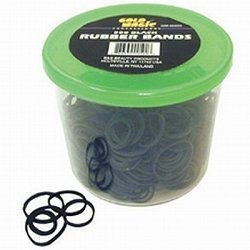 Gold Magic 500 Black Rubber Bands In A Container (GM-00500)