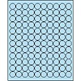 "3/4"" Round Pastel Blue Labels for Laser Printers, Inkjet Printers or Copier Machines. (GLC075PB)"