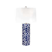 Table Lamps 1 Light With Navy Blue and White Finish Ceramic Material E26 Bulb Type 28 inch 100 Watts