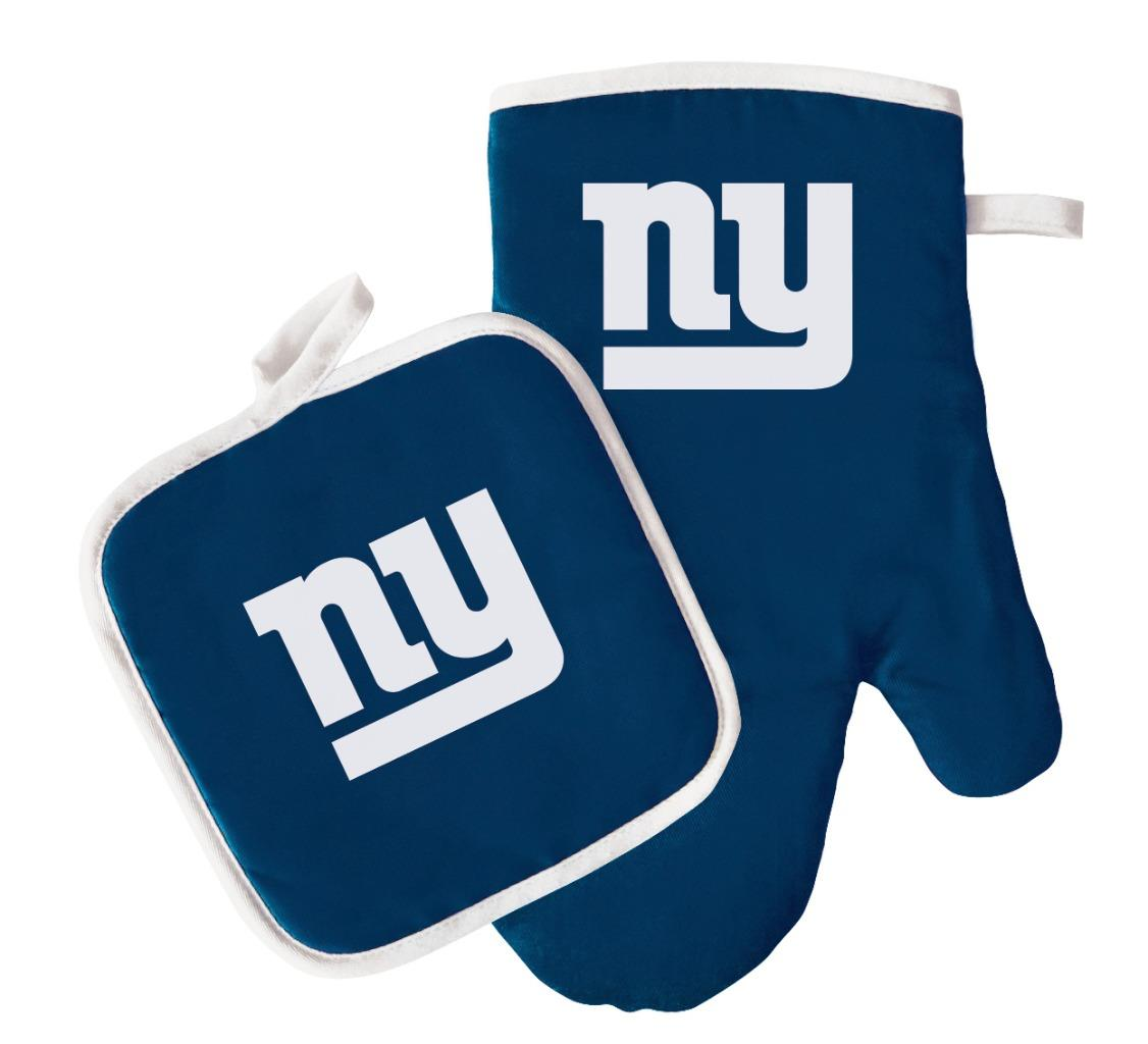 New York Giants NFL Oven Mitt and Pot Holder Set by Pro Specialties Group