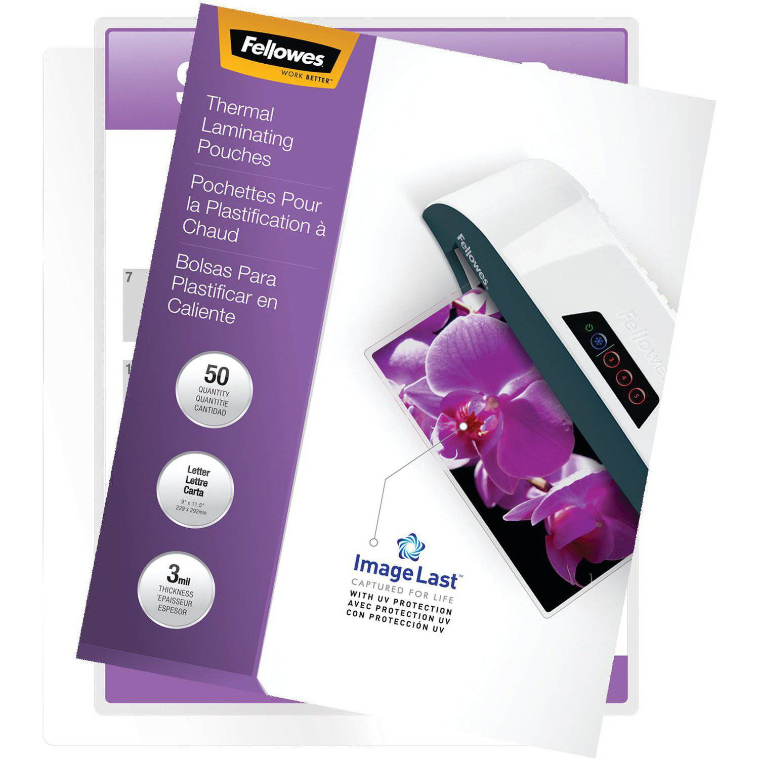 Fellowes Laminating Pouches - Letter, ImageLast, 3 mil, 50 pack