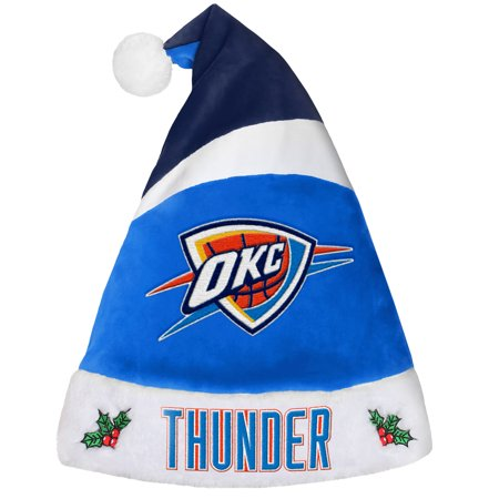Oklahoma City Thunder Official NBA Holiday Christmas Santa Hat by Forever Collectibles 455592
