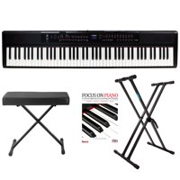 Artesia PE-88 88-Key Digital Piano with Power Supply and Pedal Bundle