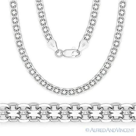 Bismark 4.1mm Chain Link Necklace in .925 Sterling Silver (Bismark Link)