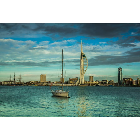 Canvas Print Harbour Spinnaker Tower Landmark Tower of The Sea Stretched Canvas 10 x 14