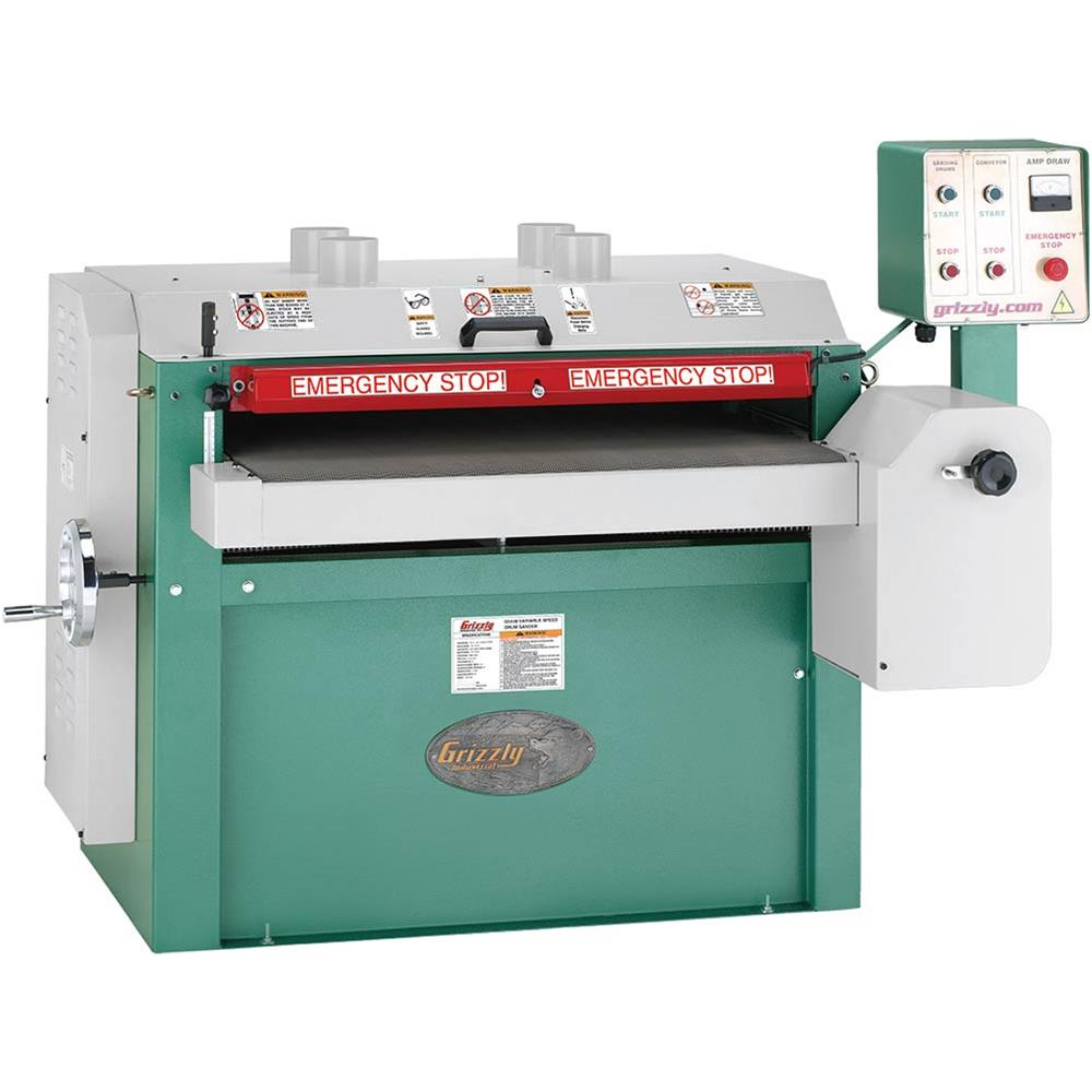 "Grizzly G0449 37"" Drum Sander, 10 HP Single-Phase by"