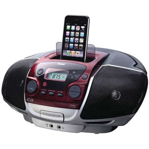 RCA RCD175I Portable CD Boom Box with iPhone(R)/iPod(R) Dock