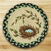 Earth Rugs 80-121RN Round Miniature Swatch, Robins Nest, printed