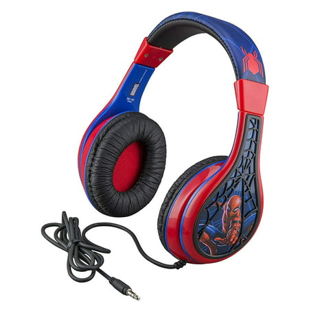 Home Headphone (Kid Headphones for Kids Spiderman Far From Home Adjustable Stereo Tangle-Free 3.5mm Jack Wired Cord Over Ear Headset for Children Parental Volume Control Kid Friendly Safe Great for School Home)