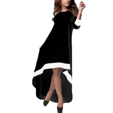 Zanzea Women Irregular Long Evening Party Dresses Walmart