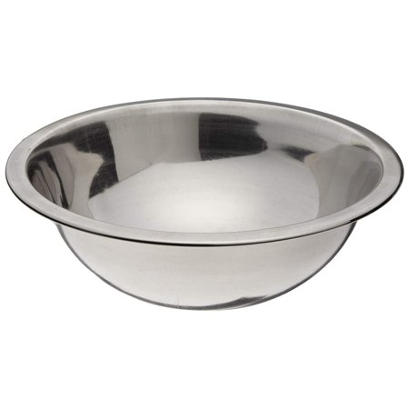 "SBL-2D 1 qt Capacity, 7-5/8"" OD x 3"" Depth, Stainless Steel Mixing Bowl with Mirror Finish By Adcraft"