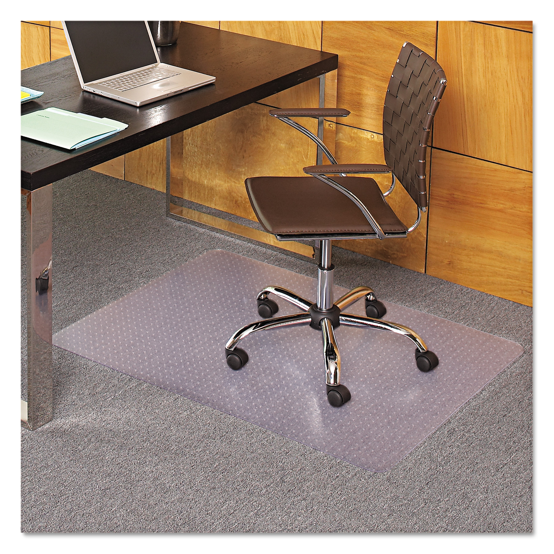 ES Robbins EverLife 36 x 48 Chair Mat for Medium Pile Carpet, Rectangular