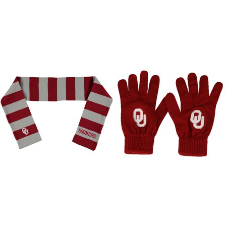 - NCAA Oklahoma Sooners Striped Rugby Scarf And TOW Knit Glove 2 Pack Bundle