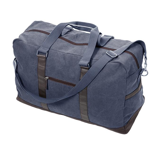 Occasionally Made Washed Canvas Large Duffel Bag, Denim Blue