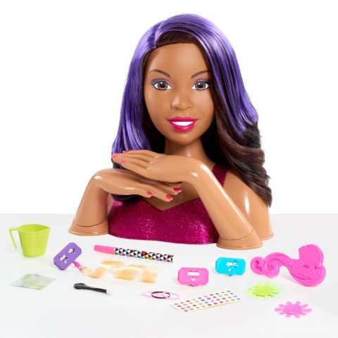 Barbie Deluxe Styling Head Brunette, Barbie Flip & Reveal by Just Play