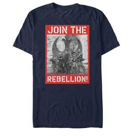 Star Wars Rogue One Men's Join the Rebellion Poster T-Shirt (X Men Rogue Wig)