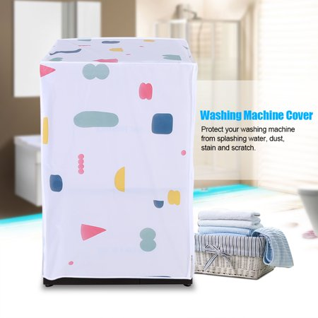 Hilitand Waterproof Washing Machine Zipped Cover Dust Protection for Top / Front Load Washer Dryer(Top Load, Front