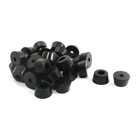 Universal Pad Washer (Unique Bargains 30 Pcs Universal Tapered Black Rubber Feet Bumper Pads Washers 13mmx7mm)