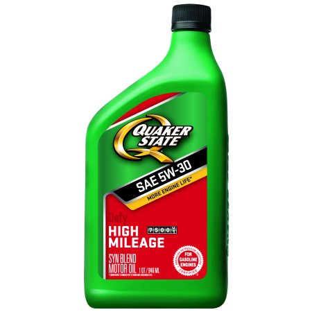 (6 Pack) Quaker State High Mileage 5W-30 Motor Oil, 1 qt (Quaker Shop)