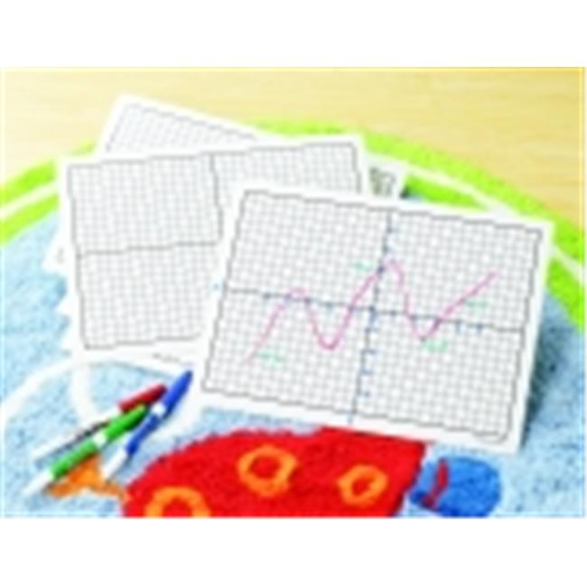 Didax Write And Wipe Coordinate Board Set With X-Y Axis For Grades 3 To 8 - Set - 10
