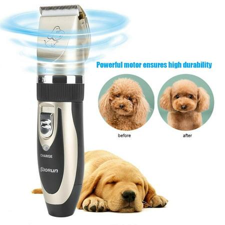 Hilitand 12pcs Set Pet Hair Clipper Dog Electric Scissors