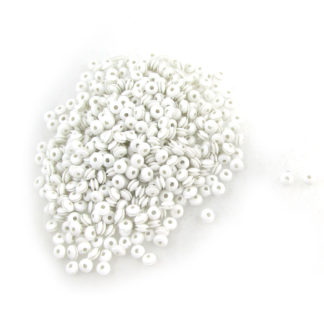 Unique Bargains Unique Bargains 3mm Inside Diameter Armature Bar White Rubber Grommets 1000 Pcs