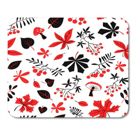 KDAGR Fall Season Floral Autumn Bright Leaves Rowan and Grape Berries Mousepad Mouse Pad Mouse Mat 9x10 inch